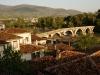 Die Brücke von Berat ist ungefähr 250 Jahre alt