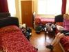 In unserem ersten türkischen Hotel haben wir die Qual der Wahl: Nebeneinander, quer gegenüber oder hintereinander schlafen?