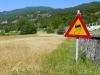 Schleudergefahr auf dem Getreidefeld