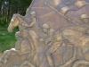 Dramatische Reiterskulptur bei Metsovo