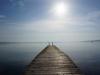 Kaum 12 Stunden im Land und schon in Ferienstimmung: Der Lago di Bracciano nördlich von Rom