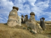 Vulkanausbrüche überzogen die Gegend vor mehreren Millionen Jahren mit einem weichen, mineralreichen Tuffstein...
