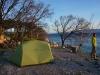 Endlich: Unsere erste Campingnacht auf dem geschlossenen Zeltplatz