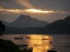 ...um einen grandiosen Sonnenuntergang über dem Mekong mitzuerleben