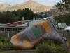 Taihape – die selbstdeklarierte Welthauptstadt des Gummistiefels. Hier findet alljährlich ein Gummistiefelweitwerfwettbewerb statt