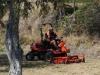 Des Neuseeländers allerliebstes Hobby: Auf dem stattlichen Rasenmäher herumkurven