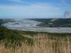 Hübsch, wie der Rakaia River in Richtung Meer mäandert