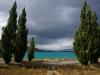 Das eiskalte Gletscherwasser verleiht dem Lake Tekapo die tieftürkise Farbe