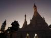 Der Wat von Mae Hong Son im Abendlicht