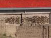 Kuhfladen-Trocknerei an der Wand...