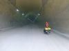 Dafür haben wir den schönen gesperrten Autobahntunnel einmal ganz für uns