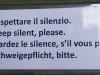Höfliches Schweigegebot