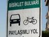 Kayseri, die Velostadt: Der Bisiklet Boulevard ist allerdings schmal und löchrig (aber immerhin!)