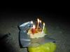 Morgens um 4 Uhr: Hääpppiiii Birthday mit rudimentärsten Mitteln