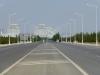 Bei der Anfahrt nach Asgabat fühlt man sich ein wenig wie im Film 'The Truman show'...