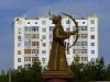 Wohnblock in Turkmenabat: Ein bisschen Kommunisten-Chic muss sein
