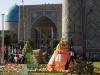 Die touristische Hauptattraktion Samarkands ist wegen eines internationalen Musikfestivals komplett geschlossen...