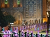 Für das bevorstehende Musik-Festival wird im Registan jeden Abend wie wild geprobt...