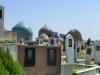 Auf dem Hügel gleich dahinter finden die Samarkander ihre letzte Ruhe, tolle Aussicht inklusive