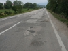 Zwischendurch treffen wir auf albanische Strassenverhältnisse