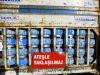 Die handlichen Haushalts-Gasflaschen sind bunt bedruckt
